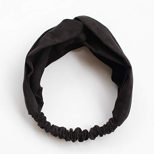 Autumn Water Women Spring Suede Soft Solid Headbands Vintage Cross Knot Elastic Hairbands Bandanas Girls Hair Bands Hair Accessories