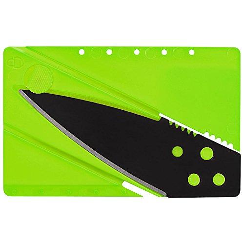 Kreditkarten-Messer ,Kreditkartenmesser, Faltmesser, Klappmesser, Camping-Messer, Taschenmesser Messer in grün, Outdoor/Survival Messer