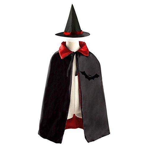 Costume Diy Gnome (A cruel boy Kids Hallowmas Black Cool bat Black Cloak or Cape with)