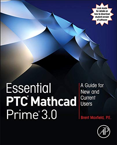 Pdf Computers Essential PTC® Mathcad Prime® 3.0: A Guide for New and Current Users
