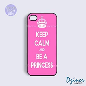 iPhone 4 4s Case - Keep Calm Be A Princess iPhone Cover