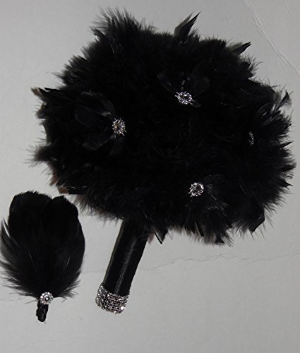 Made to order Feather Brooch Bouquet Wedding Bridal Flowers Bride Bridesmaids EMR-023