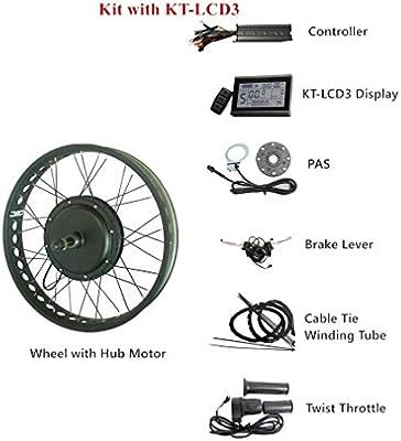 LOLTRA Kit de Bicicleta eléctrica 48 V 500 W/750 W/1000 W/1500 W ...