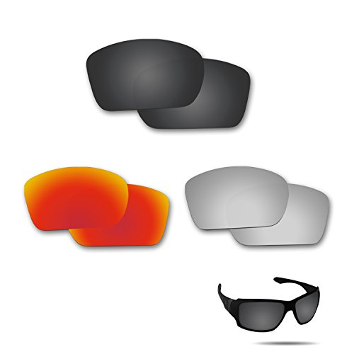 Optic Crystal Golf Ball (Fiskr Anti-saltwater Polarized Replacement Lenses for Oakley Big Taco 3 Pair Pack)