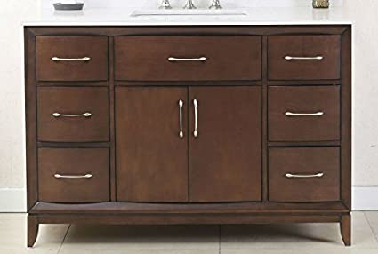 """Legion Furniture WLF7030-48 48"""" Antique Coffee Sink Vanity with Quartz  Top without Faucet - Legion Furniture WLF7030-48 48"""