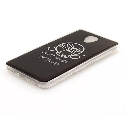Funda Meizu M5 Note , Ycloud TPU Caparazón protector Diseño pequeño Estilo silicona Carcasa Case Cover - Atrapasueños cu29