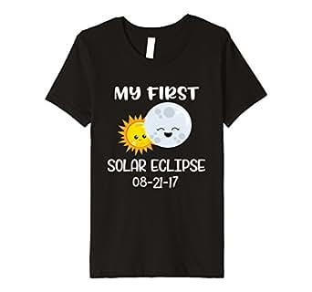 Kids My First Eclipse Toddler Shirt Kids Solar Eclipse T-Shirt 4 Black