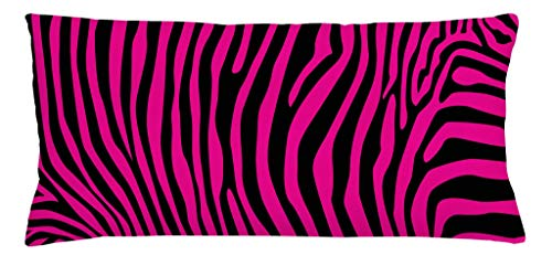 - Ambesonne Pink Zebra Throw Pillow Cushion Cover, Stylish African Animal Wilderness Pattern Jungle Mammal Fashion Boho Graphic, Decorative Accent Pillow Case, 36 X 16 Inches, Hot Pink Black
