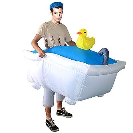 thematys Disfraz bañera Inflable - Divertido Disfraz de Aire ...