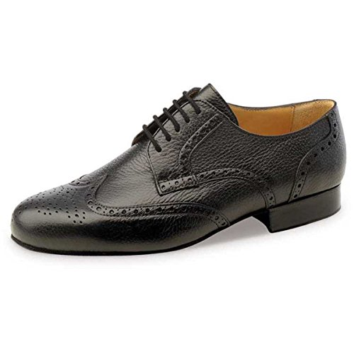 Werner Kern Hombres Zapatos de Baile 28034 - Cuero Negro - Extra Ancho - 2,5 cm Ballroom