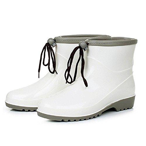 eleganti donne da delle white antiscivolo stivali traspirante pioggia wYxtAg4