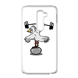 LG G2 Cell Phone Case White Chicken lifting weights Skzd
