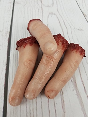 Life Size Severed Human Finger Prop Horror Prop Halloween Decoration by Blood Bay Props