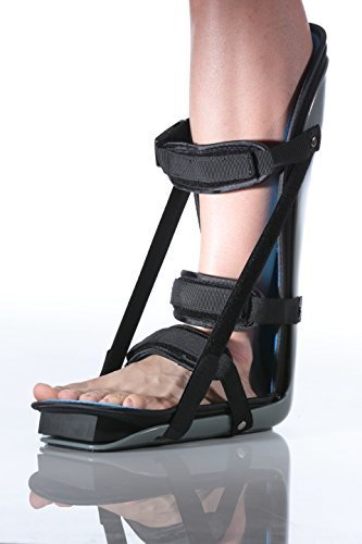 Flexibrace Adjustable Plantar Fasciitis Tendonitis Night Splint w/Wedge (LARGE) (Fascia Plantar Strap)