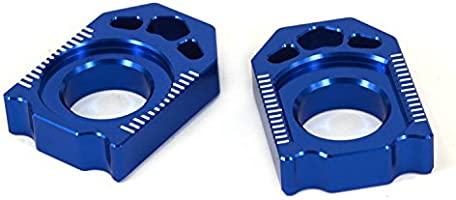 JFG RACING CNC Rear Axle Blocks Chain Adjuster For Yamaha YZ125 YZ250 02-16 YZ250F 02-08 YZ250X 16 YZ250FX 15-16 YZ450F 03-08 WR250F 02-15 WR450F 04-15 WR250R WR250X 07-16