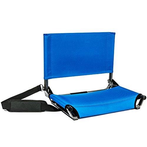 Cascade Mountain Tech Portable Folding Steel Stadium Seats for Bleachers ()