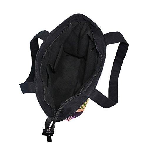 Shoulder MyDaily Canvas Womens Handbag Boho Bag Tote Tropical Elephant Style qUBpTw