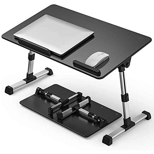 HOME 360 Work Buddy Adjustable/Portable/Foldable Multipurpose Laptop Table (Black Wood)