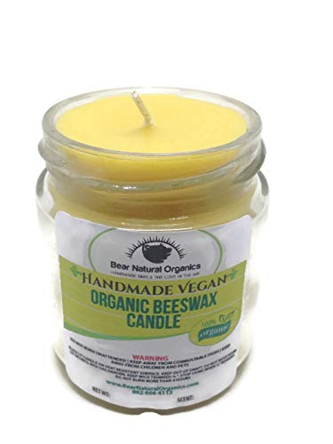 Handmade Pure Natural Beeswax Container Candle Amazing Air purifier 5 oz Great For All around use inside your home.