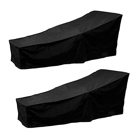 "Scorpiuse 2 Pack Outdoor Lounge Chair Cover Durable Patio Chaise Lounge Cover Protector Water Resistant Lightweight 82""Lx30""Wx31""H by Scorpiuse"