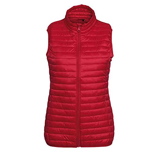 Style Fineline Tribe Women's 2786 Padded Gilet Through Red Full Zip Ug5w0q