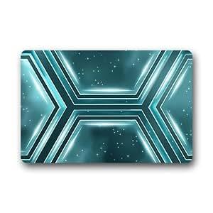 """Custom Multicolor Abstract Geometric Doormat Outdoor Indoor 18""""x30"""" about 46cmx76cm"""