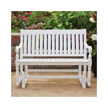 Amazon Com Member S Mark Painted Wood Glider Bench
