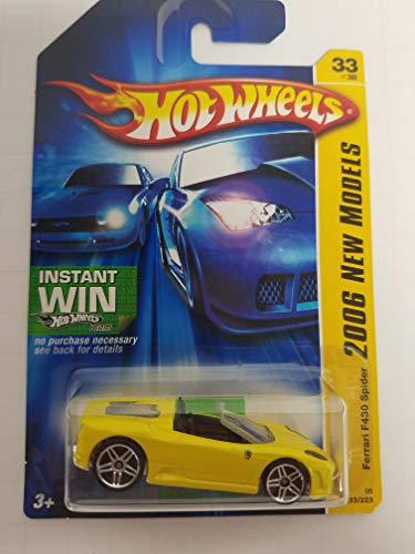 Ferrari F430 Spider No. 033 New Models Hot Wheels 2006 1/64 scale diecast car
