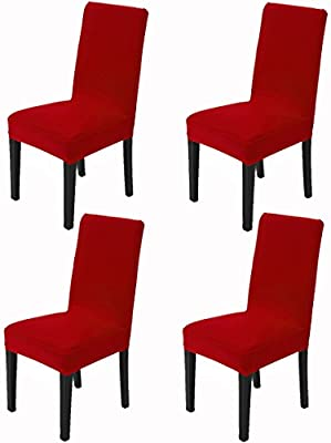 Super Awland Dining Chair Slipcovers Protector Removable Short Stretch Spandex Dining Room Banquet Chair Seat Cover For Kitchen Bar Hotel And Wedding Machost Co Dining Chair Design Ideas Machostcouk