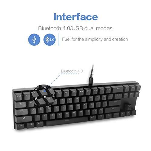 7b76ee67bcc DREVO Calibur 71-Key RGB LED Backlit Wireless Bluetooth 4.0 Mechanical  Keyboard Blue Switch Black (a44859a22f6d0d452229580b898240f4) - PCPartPicker