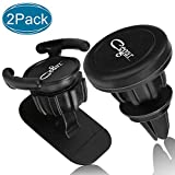 Cegar Universal Magnetic Cell Phone Mount Holder 360 Rotation Pop Clip Car Mount with Air Vent Dashboard Perfect for GPS Navigation Compatible with All Smartphones