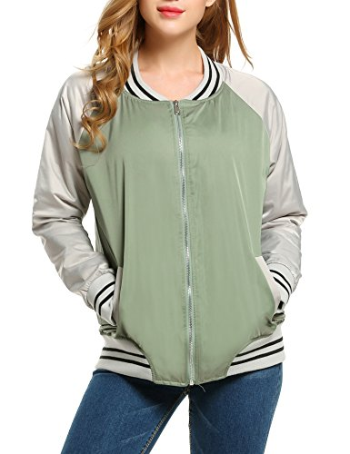 Meaneor Womens Sleeve Baseball Outwear product image