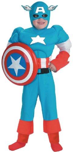 [Captain America Classic Muscle Costume - Medium] (Kids Captain America Costumes)