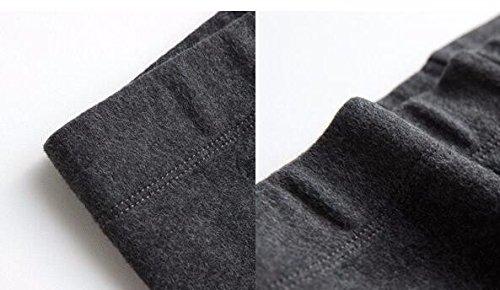 GBHNJ Leggings Slim Taille Haute Coton Transparent Plus Épais Peuvent Être Portés À L'Extérieur Women'S L'Automne Et L'Hiver Gris Thermique F(Poids Approprié 80-130 Catty)