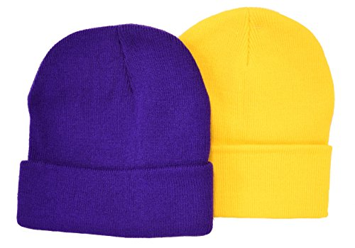 Evil Minion Purple & Minion Yellow / 2 Pack of Beanies
