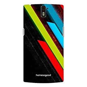 HomeSoGood Colored Lights Falling Pattern 3D Mobile Case For OnePlus One (Back Cover)