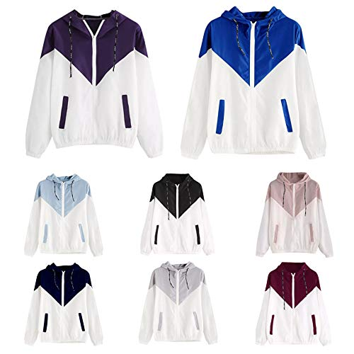 T Cappuccio Blu Del Splice Donna Toogoo Lunga Con Giacca S Cardigan Cappotto Pocket shirt Marino Size Vento Signore Plus A Manica Colori qVpGLzMUS