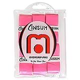 INSUM Tennis Racquet Overgrip Grip Tape Neon Pink 6-Pack Wet Tape Super Tacky