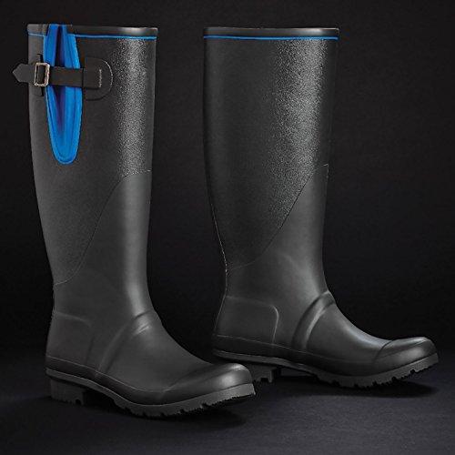 Harry Hall brinsworth Wellington Bottes Femme bottes en caoutchouc noir Gumboots