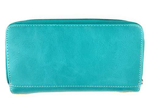 dissimulé West assorti couleurs strass à monnaie plusieurs EU Sac main en en porte Turquoise brodé western Texas 7fdXqwf