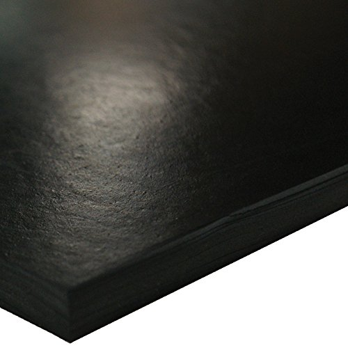 SBR (Styrene Butadiene Rubber) Sheet, 70 Shore A, Black, Smooth Finish, No Backing, 3/8'' Thickness, 36'' Width, 48'' Length by Small Parts