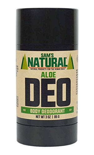 Sam's Natural Deodorant Stick - Aloe, Aluminum