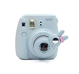 CAIUL 7 in 1 Fujifilm Instax Mini 8 Instant Film Camera Accessories Bundles (Blue Instax Mini 8 Case/ Mini Album/ Close-up Selfie Lens/colors Close-up Lens/ Wall Hang Frames/film Frame/ Film Stickers)