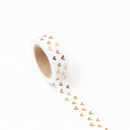 UltimaFio 1.5cm10m Loving gilding Washi Tape Adhesive Tape DIY Scrapbooking Sticker Label Craft Masking Tape