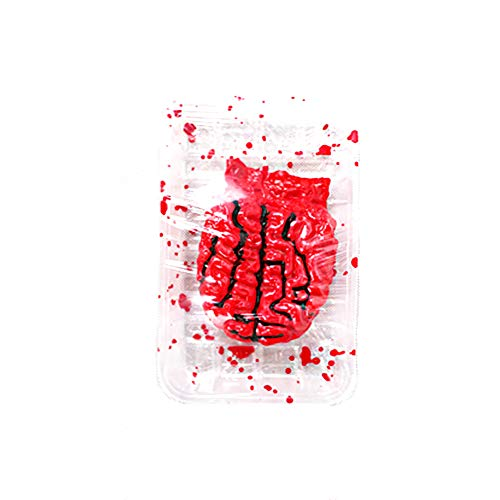 Horror Bloody Fake Severed Brain with Dish Tool Prank Trick Halloween Party Props