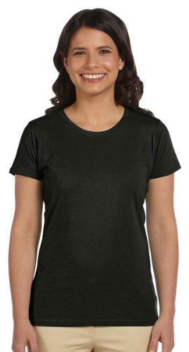 Black Organic Cotton Tee - econscious Women's 100% Organic Cotton Short Sleeve Tee (Black, Large)