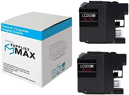 SuppliesMAX Compatible Replacement for Brother DCP-J562//J4120//MFC-J460//J680//J880//J4320//J4620//J5320//J5620//J5720DW Magenta High Yield Inkjet 2//PK-550 Page Yield LC-263MXL2PKS
