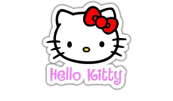 Adhesivo de vinilo para coche, diseño de Hello Kitty - Tamaño a elegir: Amazon.es: Coche y moto