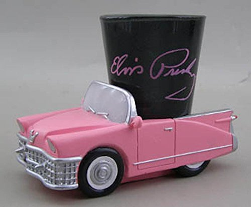 Elvis Presley Signature Shot Glass With Pink Cadillac Base]()