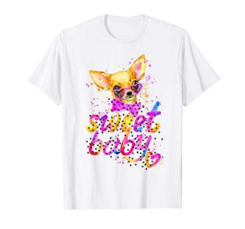 Watercolor Puppy Dog, Text Sweet Baby, - Dog Bandana Sleeve Collar
